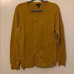 Mustard Yellow/Gold Gap Cardigan Size XL